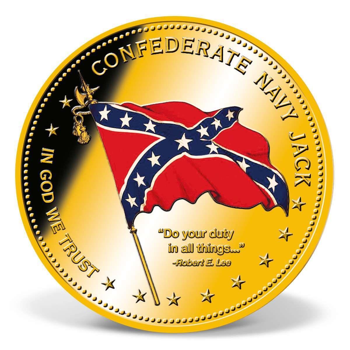 Confederate Navy Jack Commemorative Coin Confederate Navy Confederate Confederate States
