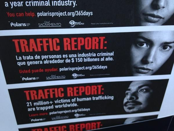 Sacramento's trafficking poster campaign