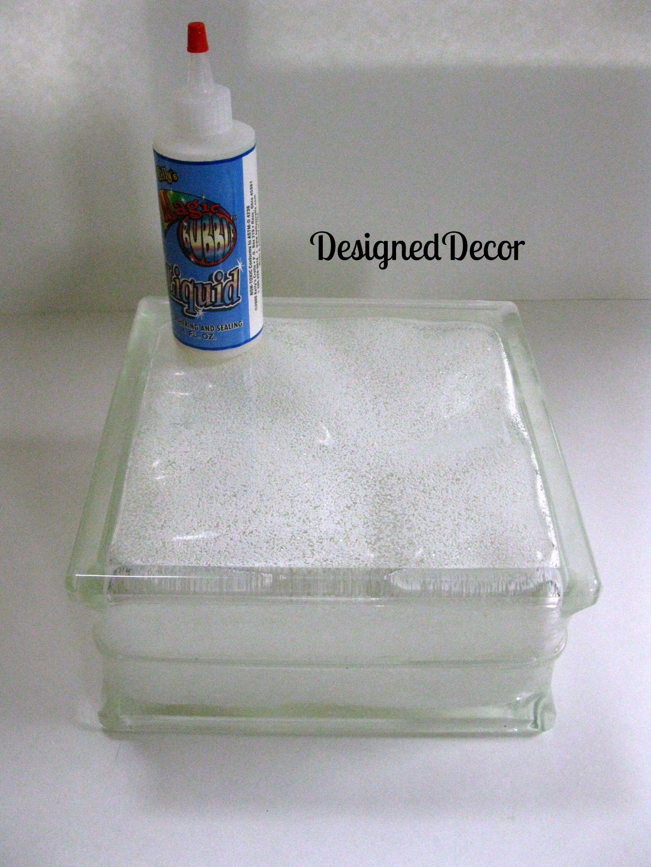 Tutorial For Decorating Glass Blocks Decorative Glass Blocks