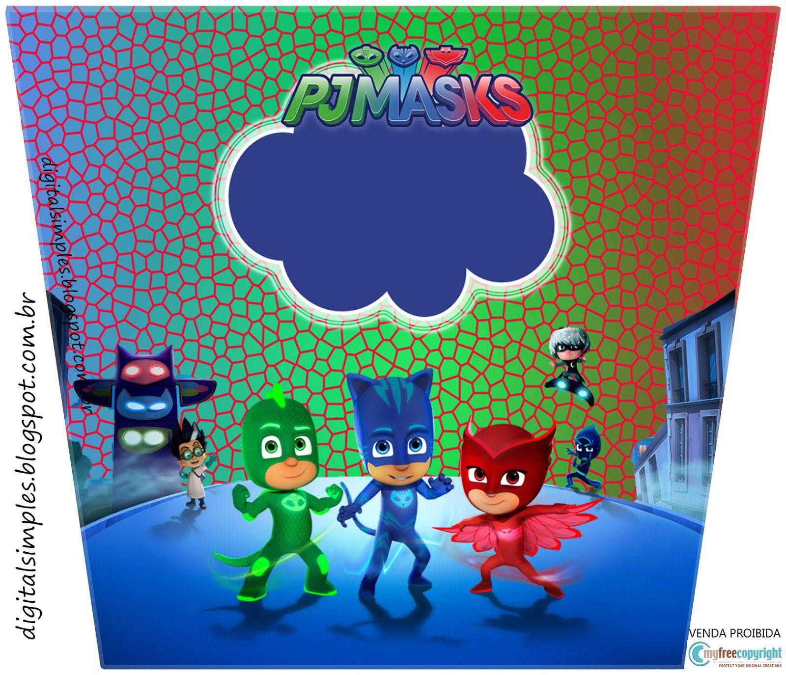 Kit digital free anivers rio pj masks convites for Kit para toldos de enrollar