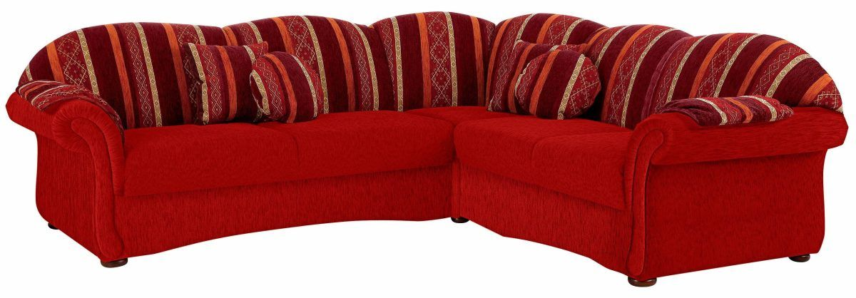 Home affaire Ecksofa »Colombo« rot, langer Schenkel links, FSC - wohnzimmerwand rot