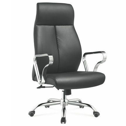 Modern Furniture Foshan China Executive Black Genuine Leather Office Chair Manager Seating C Leather Office Chair Office Chair Executive Leather Office Chair