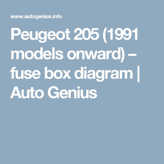 Peugeot 205 1991 Models Onward Engine Diagram - Wiring Diagram ...