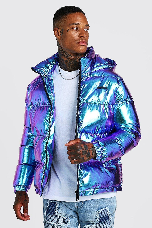 Metallic Puffer Jacket Boohooman Puffer Jackets Distressed Denim Jacket Padded Jacket [ 1500 x 1000 Pixel ]
