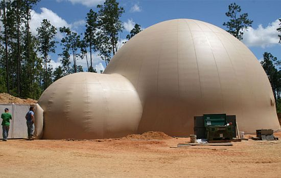Inflatable Dome Home in Louisiana embraces energy-efficiency - Green Diary  - Green Revolution Guide by Dr Prem