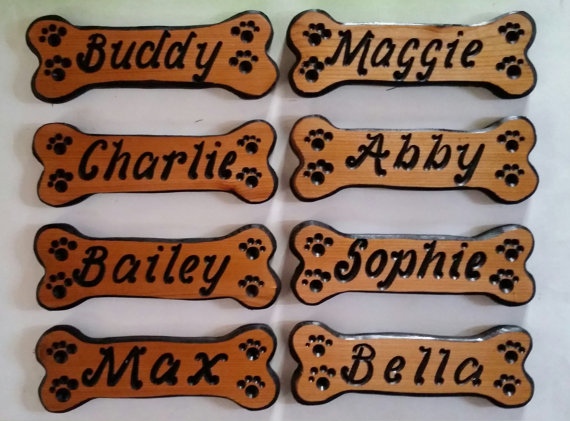 Personalized Dog Bone Signs, Dog Bones, Custom Dog Name
