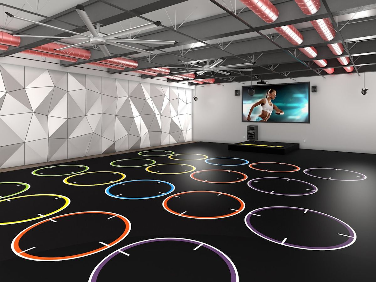 Fitness Flooring Graphics › Group exercise design concept