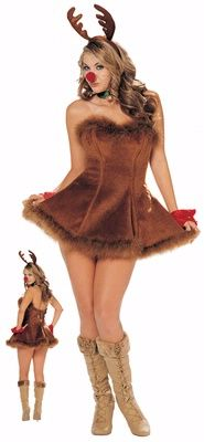 59930133c282 Rudolf the Sexiest Reindeer Costume - Women's Sexy Christmas Costume ...