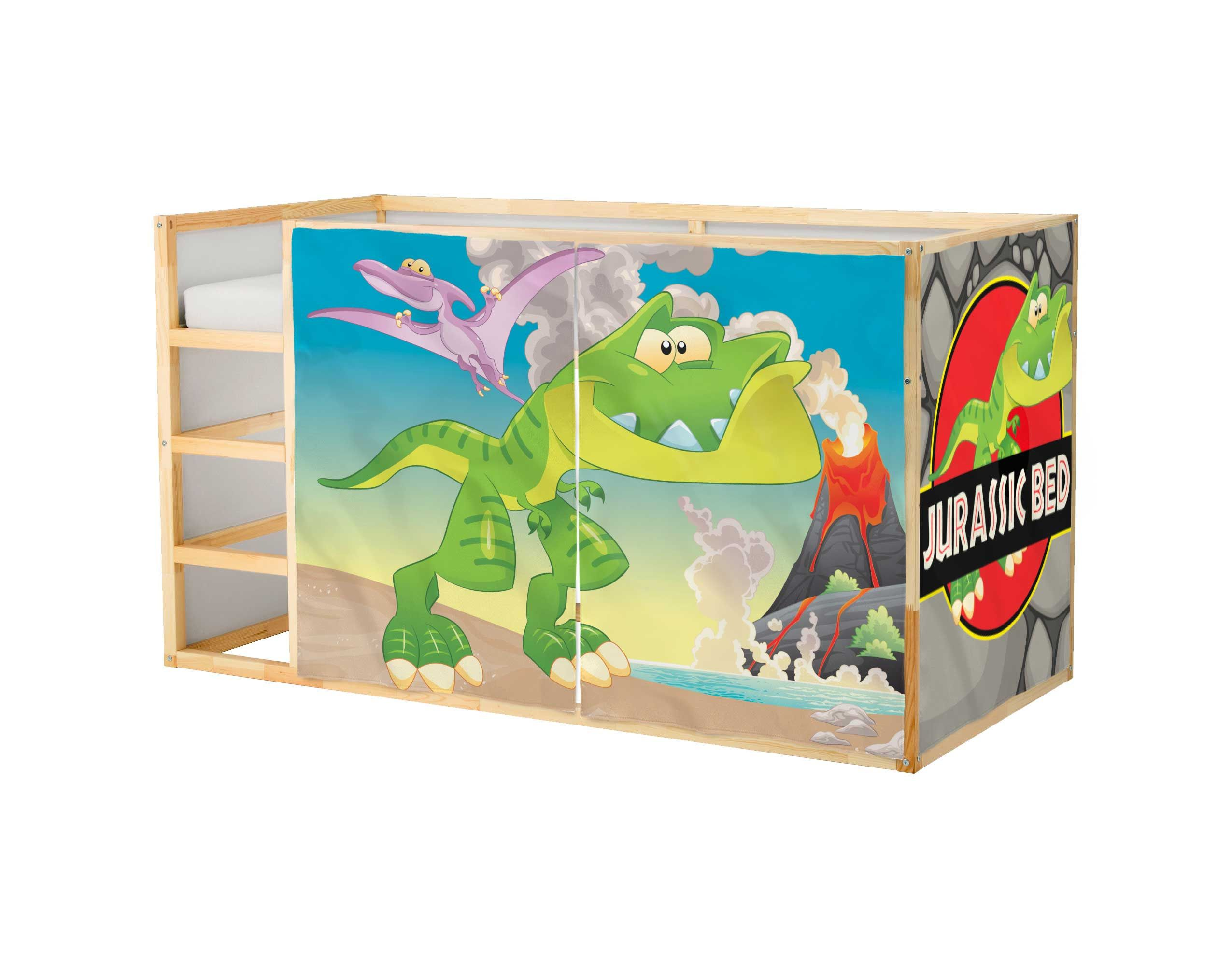 Kids Bed Accessories Playhouse For Ikea Kura Bed Dinosaur Playhouse Curtains