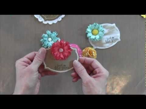 How to make paper flowers video 3 types flowers stamping videos how to make paper flowers video 3 types flowers mightylinksfo