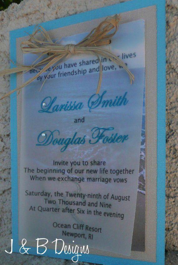 Beach Wedding Invitation Sample by JoLynEvents1 on Etsy | Wedding ...