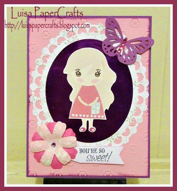 Luisa PaperCrafts: Tarjeta You're so sweet!! con digi de @csocute