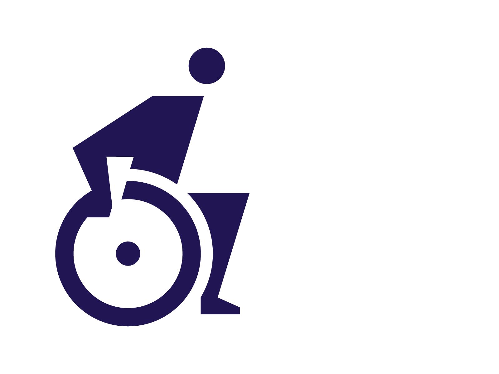 Disabled Picto Trendy Logo Design Logo Design Creative Pictogram