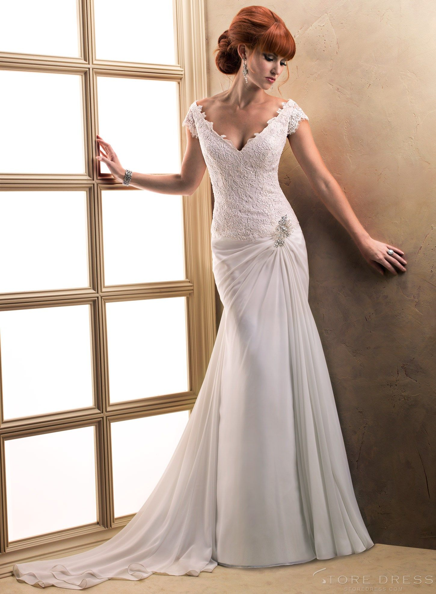Adorable new arrival style vneck lace wedding dress love the