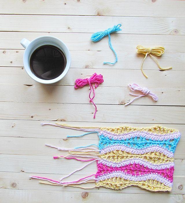Crochet Lacy Ripples Swatch | Ganchillo, Tejidos de ganchillo y Puntos