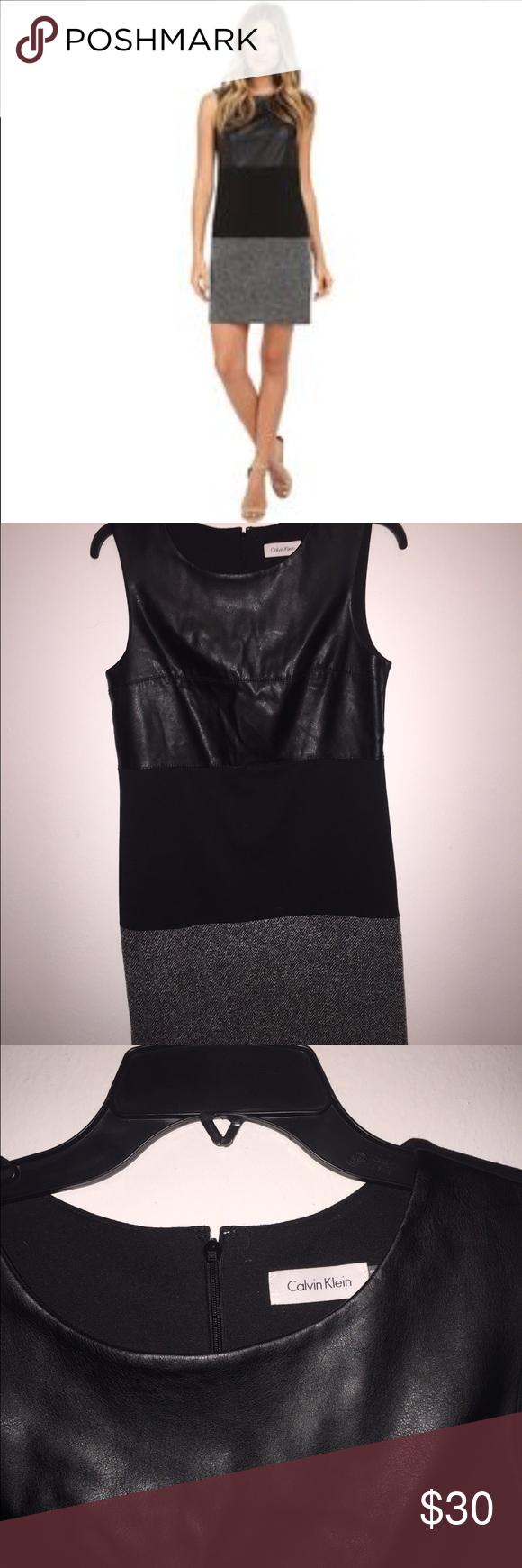 Calvin Klein sleeveless black tweed dress Calvin Klein sleeveless black tweed dress Calvin Klein Dresses