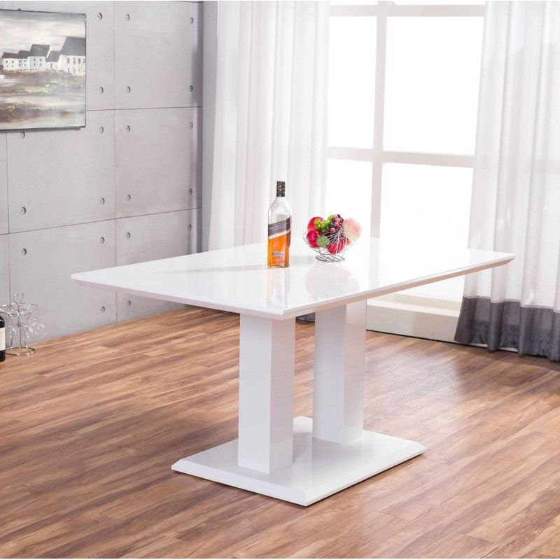 Ransberg High Gloss Dining Table Dining Table Dining Table Setting Modern Glass Dining Table