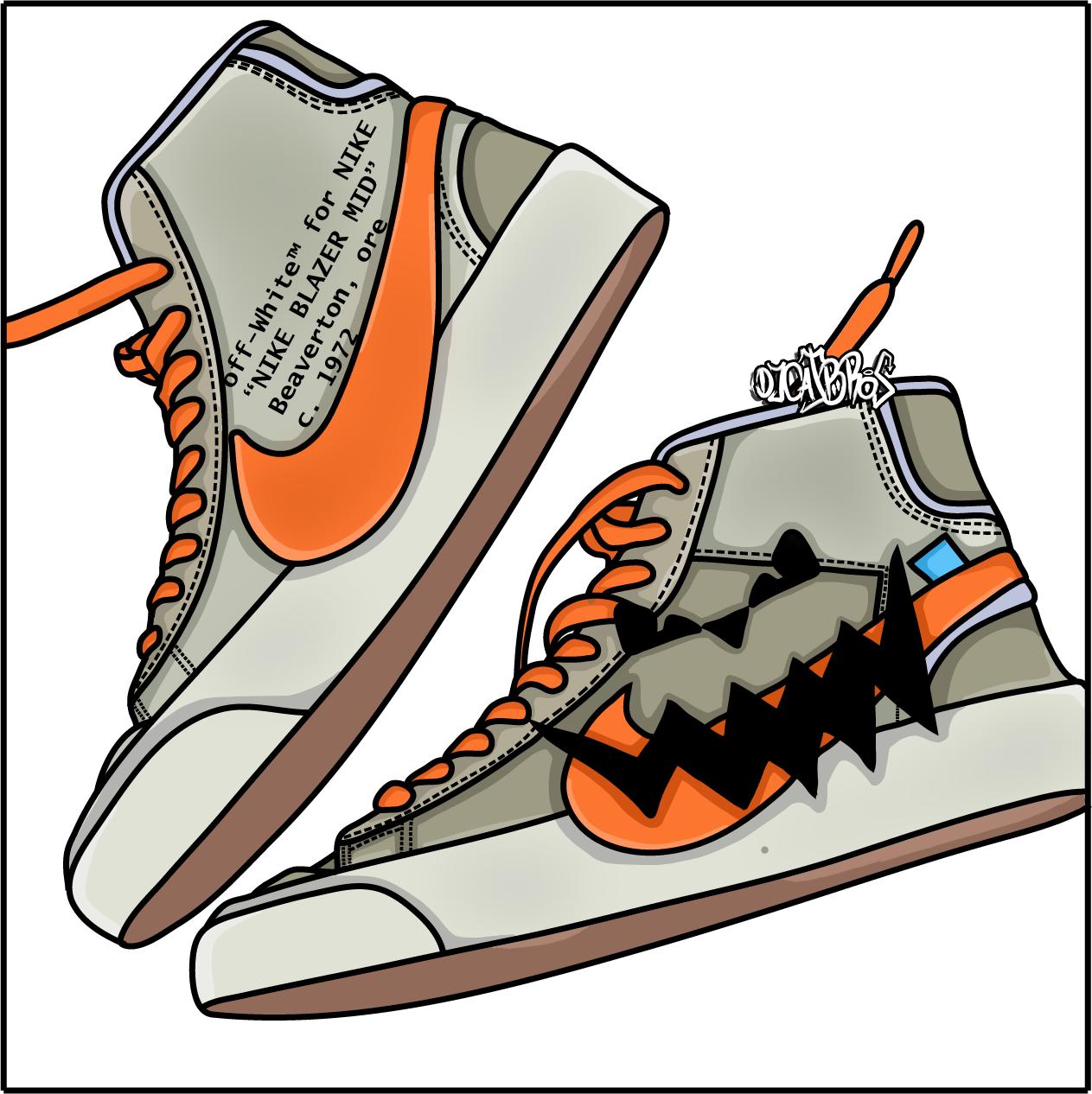 Halloween Crepy Jordan Jordan1 Streetwear Draw Nike Custom