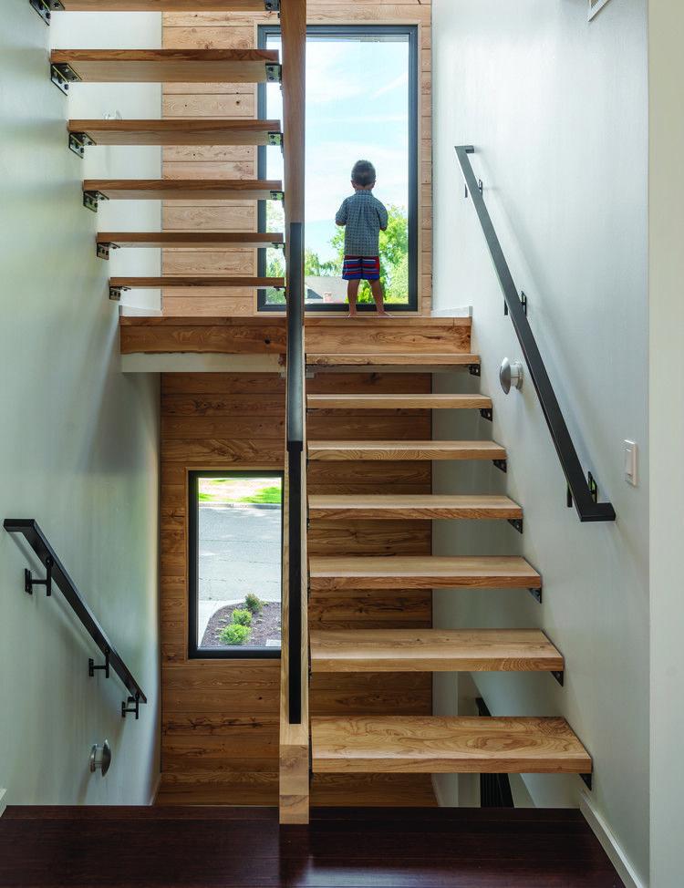 Park Passive House / NK Architects (avec images) | Escalier tournant, Escalier ouvert, Escalier