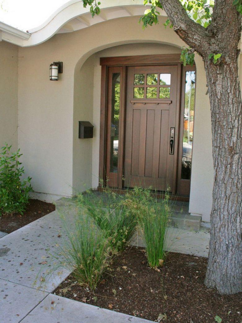 Fascinating Traditional Front Door Ideas in Dark Brown Color ...