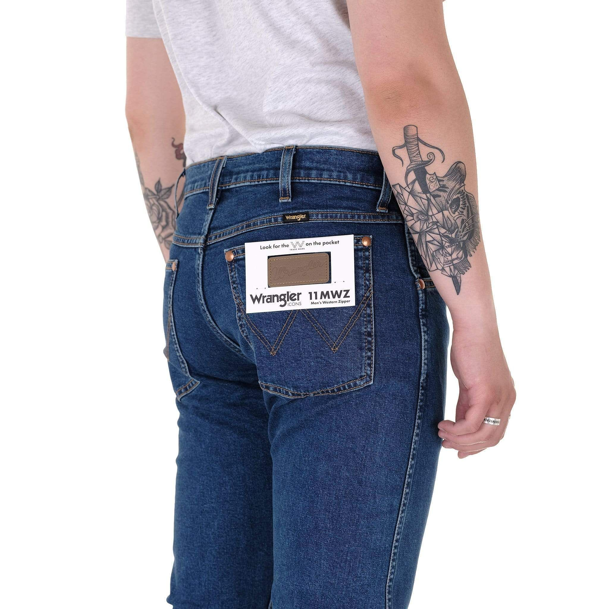 1 Year Wrangler Icons 11MWZ Western Slim Mens Jeans