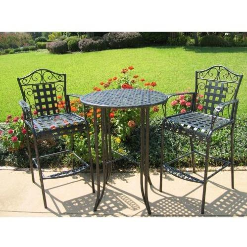 International Caravan Mandalay 2 Person Wrought Iron Bar Set