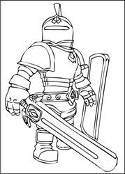 A Free Printable Roblox Knight Coloring Page Paginas Para