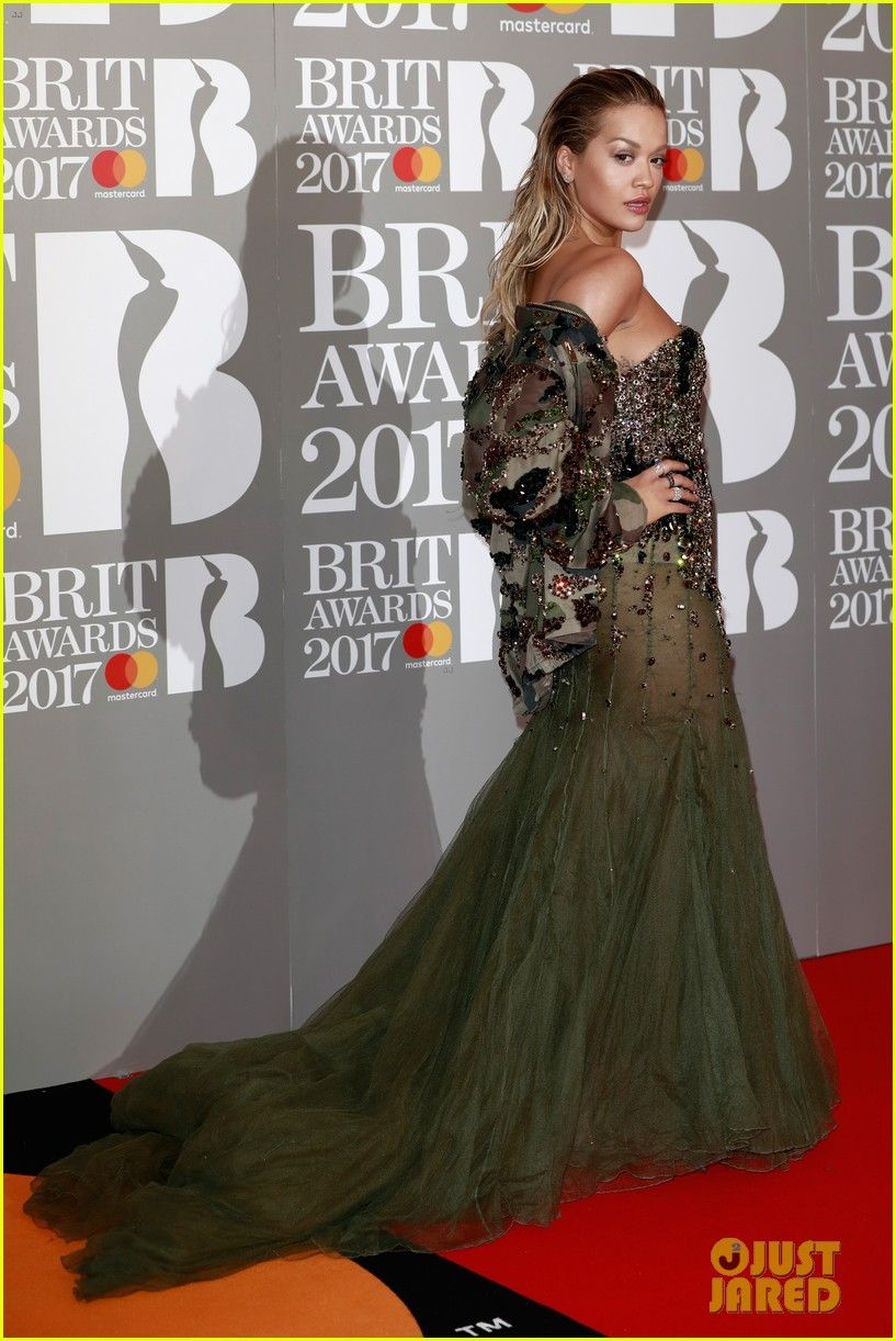 Wearing yellow dress quotes  Rita Ora Arriving in Style for Brit Awards   Style u Culture