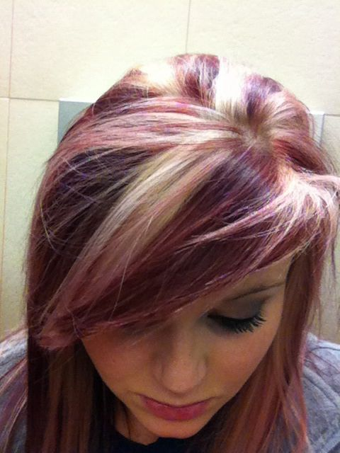 Burgundy Hair Color With Blonde Highlights Wqzhfpt Hair