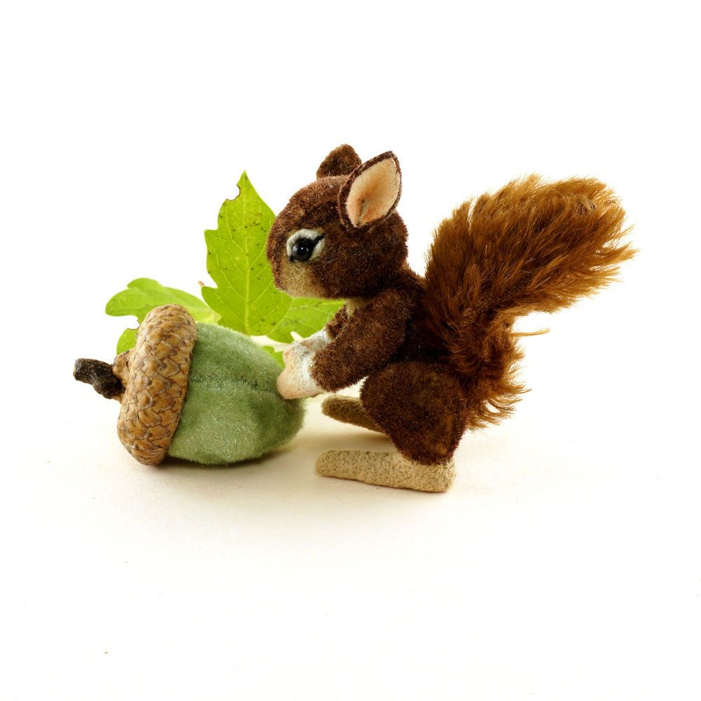 OOAK  2015 Janie Comito  Little Brown Squirrel Finds an Acorn ~  Fully Jointed #Summer