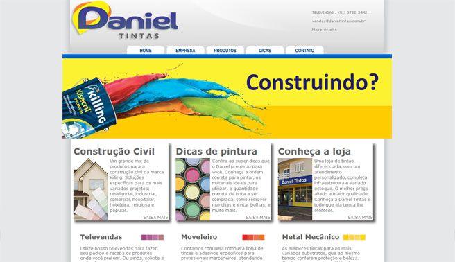 Site para a loja Daniel Tintas.