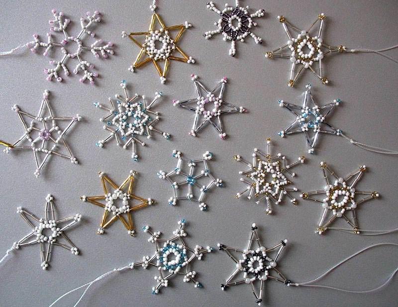 Картинки по запросу снежинки вышивка бисером | Снежинки | Pinterest