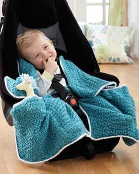 Bernat Pattern Detail Softee Baby Car Seat Blanket Free