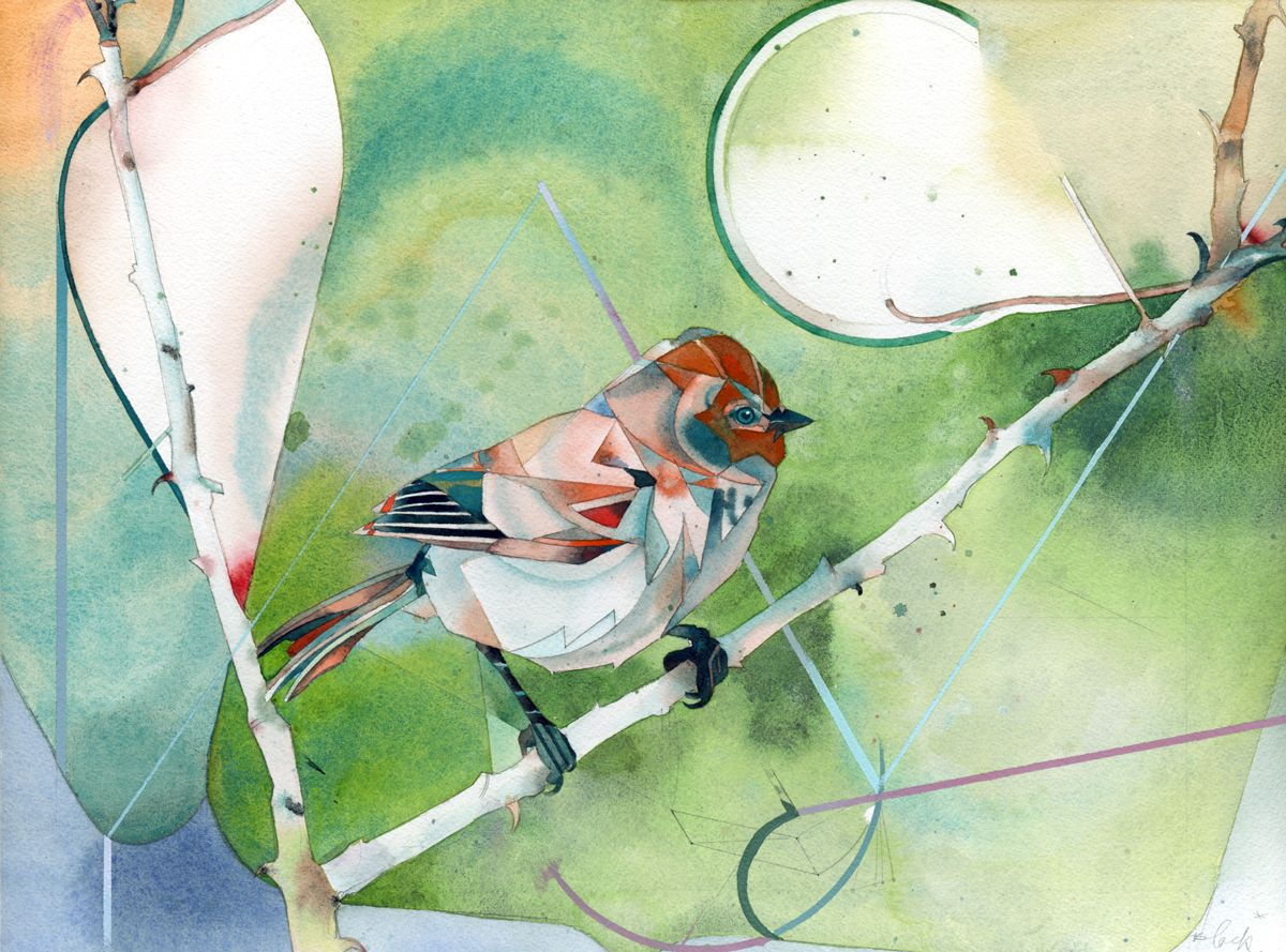 """"""" chirp346 comm tower  13x17 watercolor and acylic on paper  travis bruce black  """""""