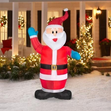 7 Ft Tall Small Santa Clause Inflatable Christmas Electric lighted - inflatable christmas yard decorations