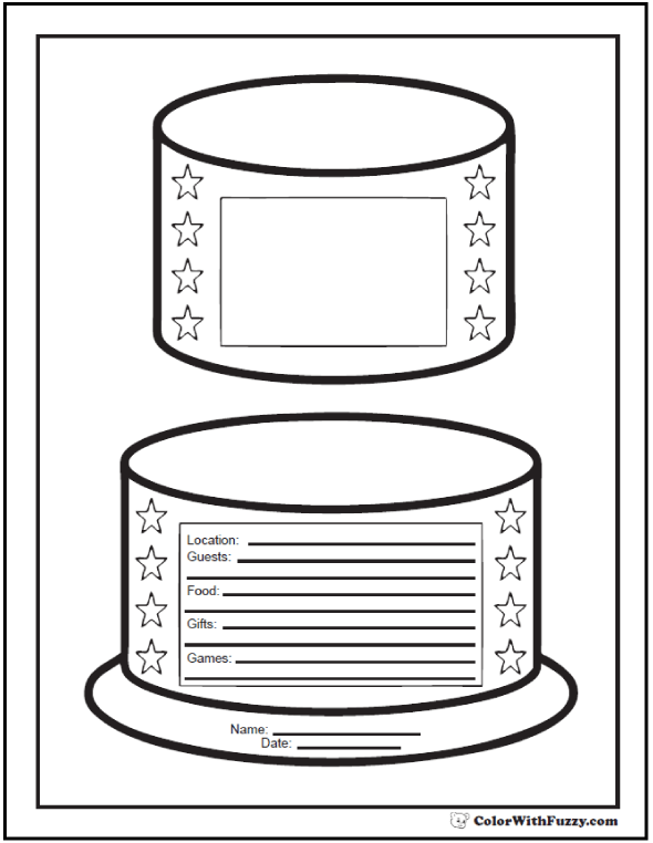55+ Birthday Coloring Pages Printable and Customizable in ...