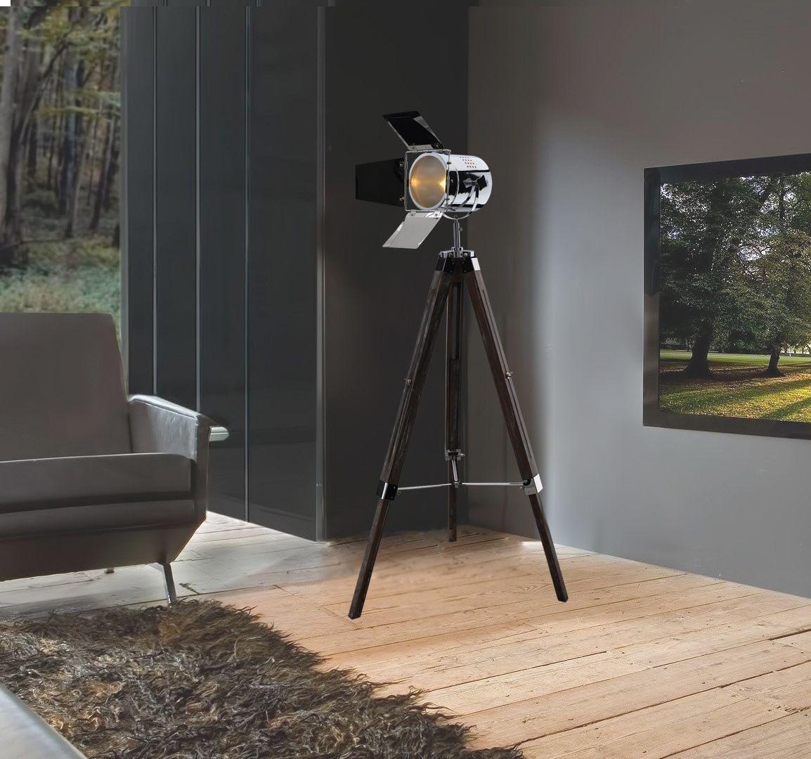 best keria luminaires lampadaire projecteur trpied noir mtal with keria lampadaire. Black Bedroom Furniture Sets. Home Design Ideas