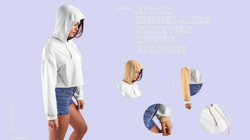 Download Women Crop Top Hoodie Mockup Crop Tops Women Crop Top Hoodie Hoodie Mockup