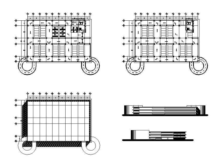 Multi Storey car park design -CAD blocks free | Parking