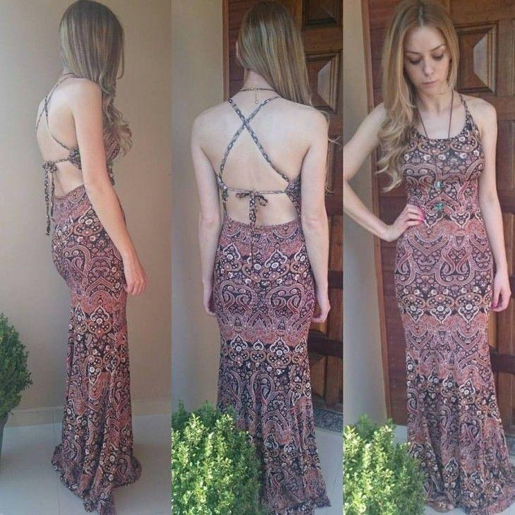 24a9aa700 vestido-sereia-longo-boho-estampado-decote-costas-bojo -amarrado-comprar-viscolycra