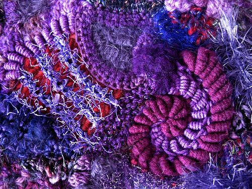 freeform fabric close-up by Prudence