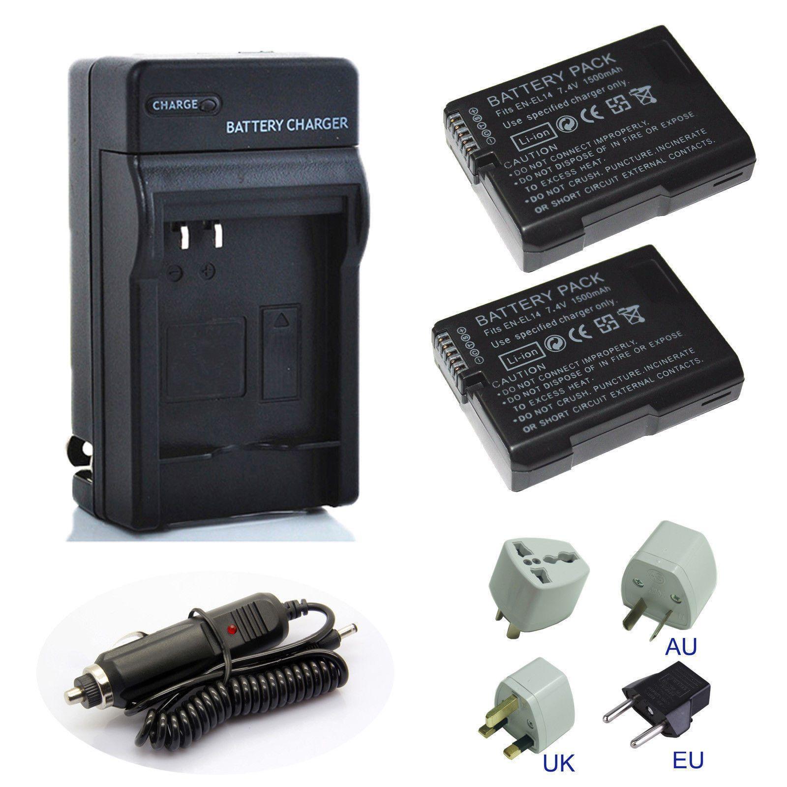 EN-EL14 ENEL14a USB Battery Charger For Nikon D5100 D3200 D3100 P7000 P7100 New