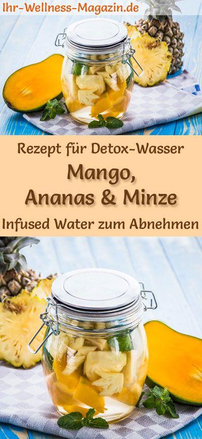 Mango-Ananas-Minze-Wasser - Rezept für Infused Water - Detox-Wasser