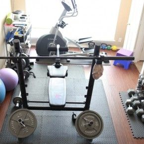 Small Home Gym With Nice Light From Getitcutcom  Home Workout - Small home gyms