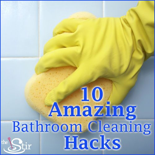 Bathroom Cleaning Hacks To Make Our Lives Easier Pinterest - Cleaning hacks bathroom