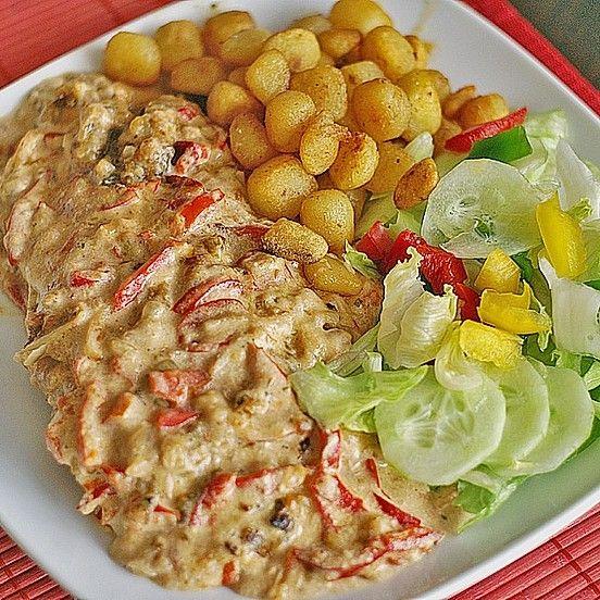 Zwiebel - Sahne Schnitzel, sehr einfach von Witkia | Chefkoch