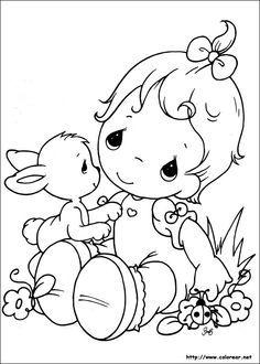Precious Moments - Baby with bunny and ladybug | Precious ...