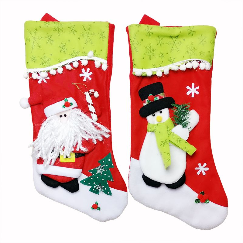 2 unid grande lindo calcet n de navidad decoraci n de pap - Calcetin de navidad ...
