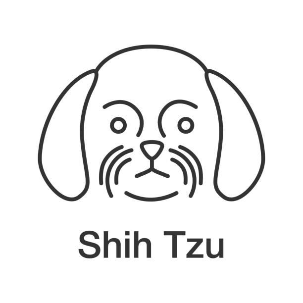 30+ Shih Tzu Clipart Black And White