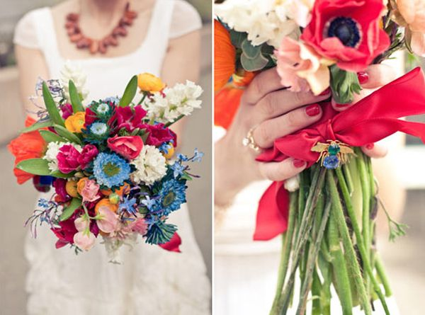 Images from top left clockwise: 1  - 2  - 3  -  4  - 5  - 6  - 7  - 8  (more below)   Continuing our little colorful wedding inspiration s...